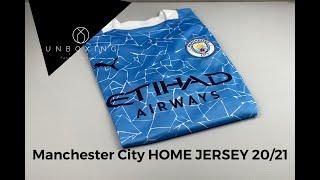 Puma Manchester City Home Jersey Season 20/21 | UNPACKING & WEARING | football jersey