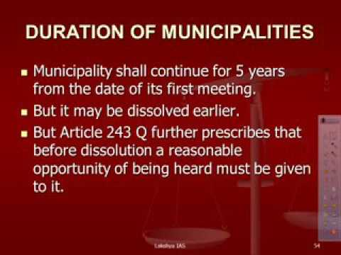 Urban Local Government MUNICIPALITIES Indian Polity part 12 b