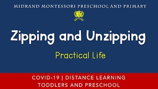Montessori Practical Life Presentation - Zipping and Unzipping