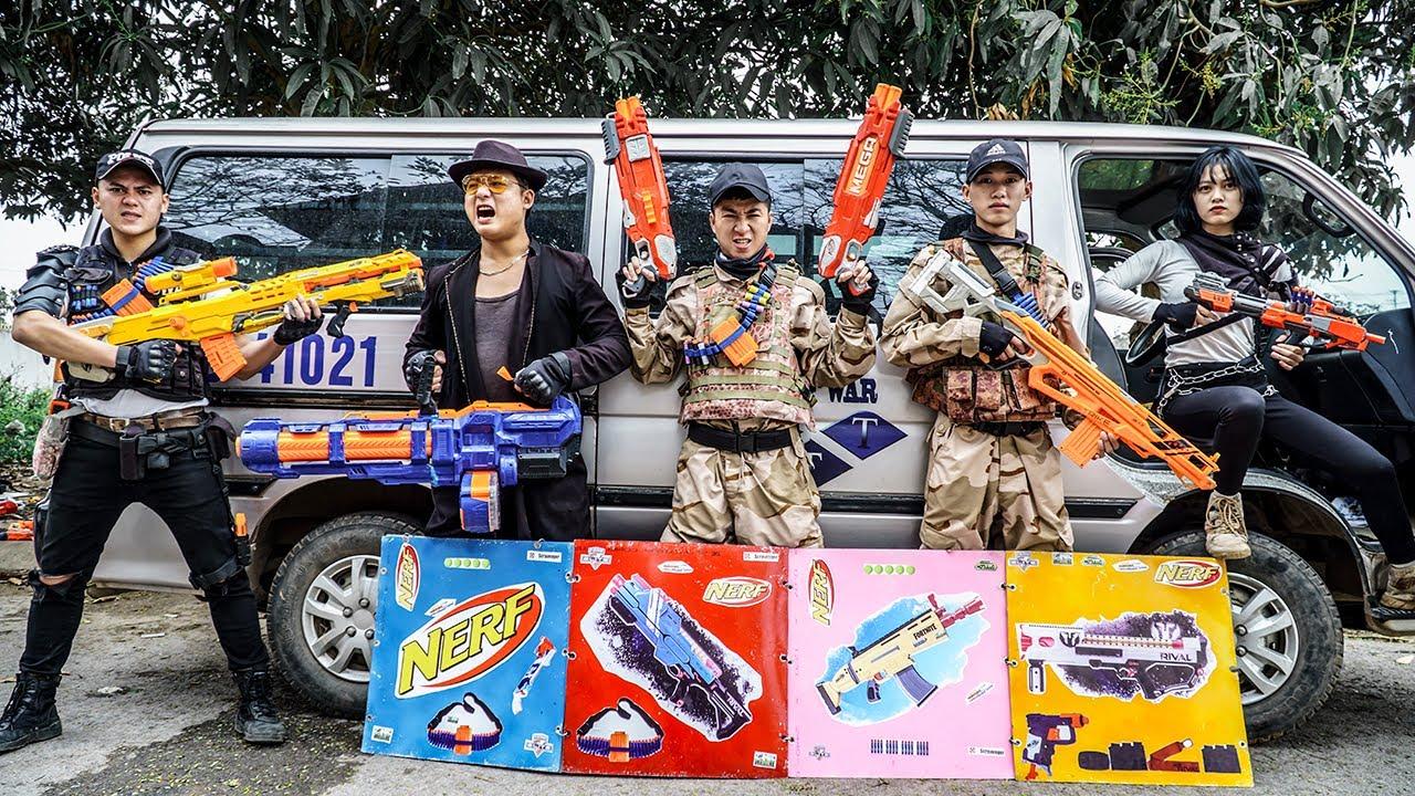 LTT Nerf War : Police Patrol SEAL X Warriors Nerf Guns Fight Criminal Dr Ken Crazy Smash Enemy Trade