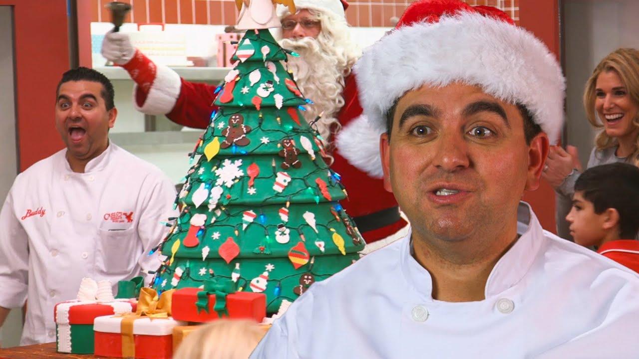 Download Buddy's Christmas Tree Cake! | Cake Boss