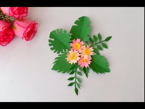 Most requested video/ How to make DIY PAPER LEAVES |  DIFFERENT LEAF CUTTING DESIGN IDEAS