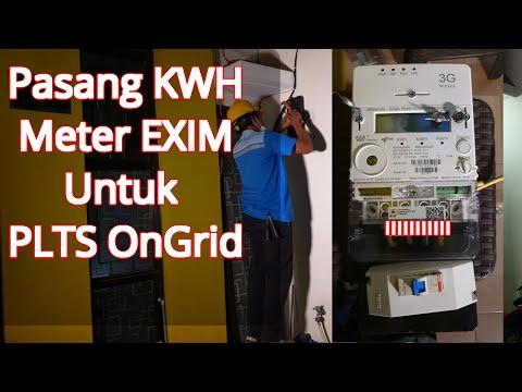 Pasang KWH Meter EXIM Untuk PLTS On Grid | Deposit Listrik ke PLN