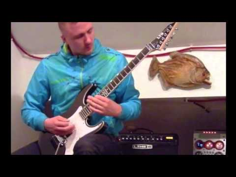 CHIMAIRA 'year of the snake' cover - with Rob Arnold LTD RA600 guitar [HD]