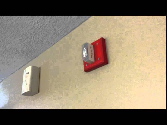 Wheelock LSM-24 single-strobe fire alarm system