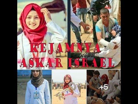 RAZAN  AL NAJJAR DITEMBAK KEJAM OLEH TENTERA ISRAEL LAKNATULLAH