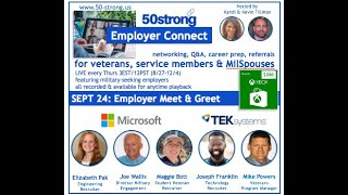 9.24 50strong Employer Connect: Microsoft & TEKsystems