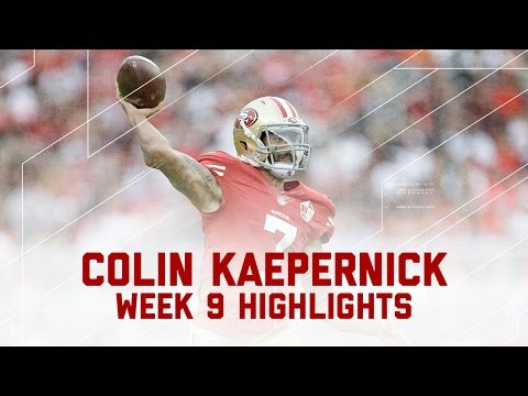 Colin Kaepernick's Near 400Yard Performance!  Saints vs. 49ers  NFL Week 9 Player Highlights