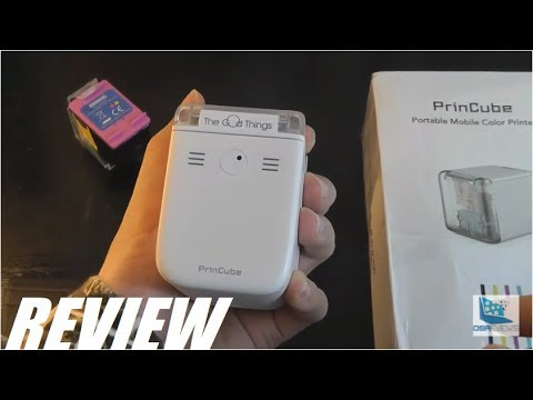 REVIEW: PrinCube - The World's Smallest Mobile Color Printer - Print On Anything?!