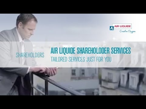 Air Liquide Shareholder Services:  tailored services just for you