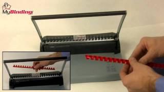 GBC CombBind C75 Comb Binding Machine Demo Video