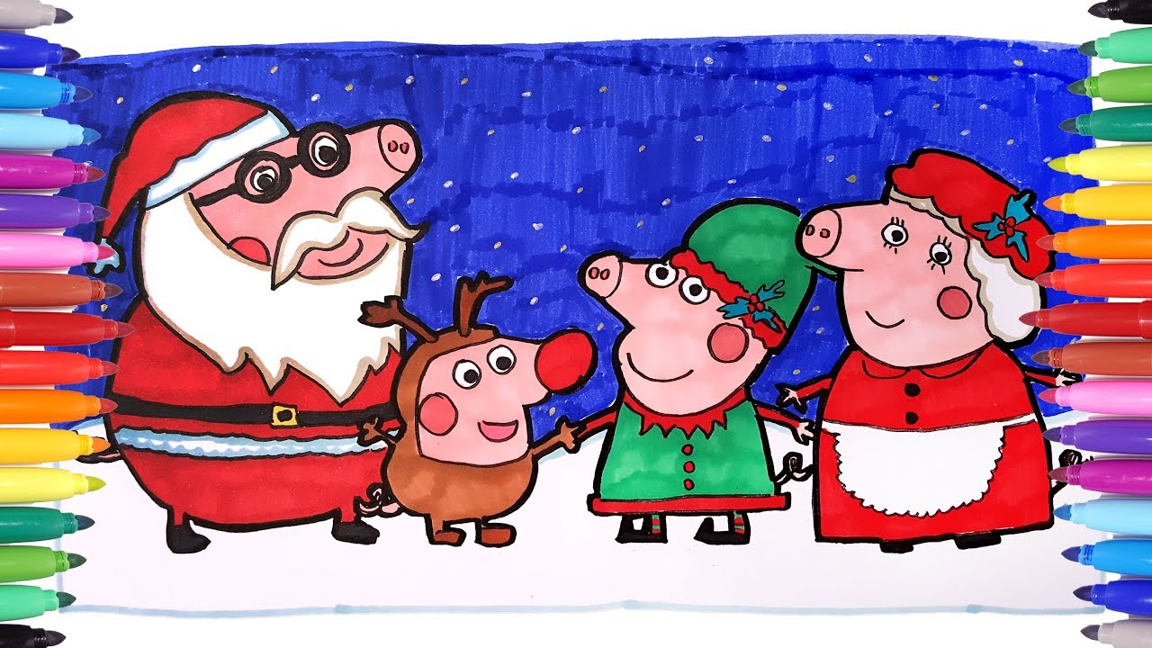 Peppa Pig Family Christmas Coloring Book | Peppa and George ...