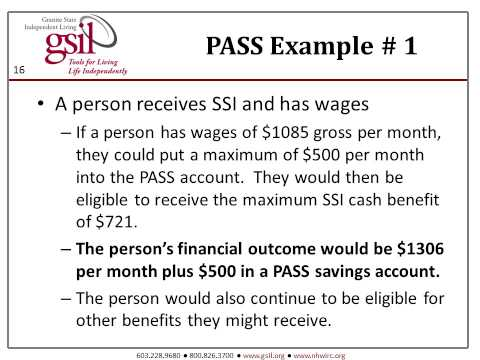 Disability Benefits Info For NH Employment Professionals: #10 Plan To Achieve Self-Support (PASS)