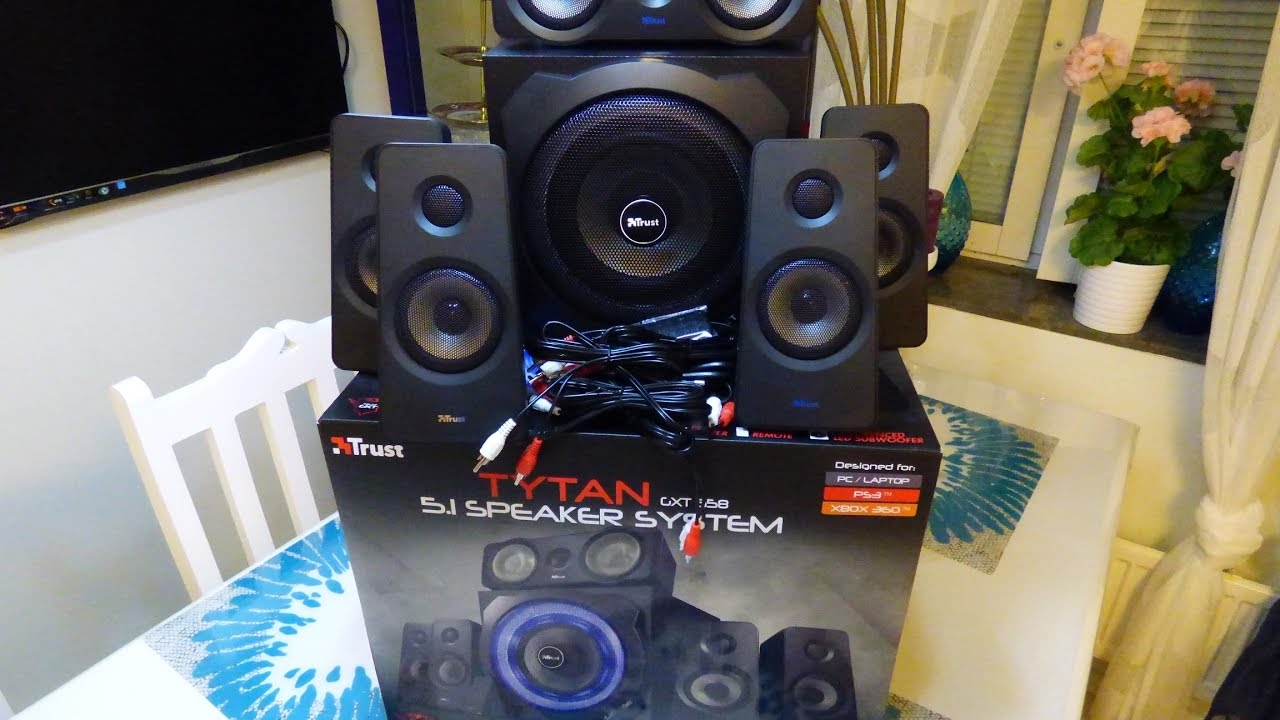 Trust Gxt 658 Tytan 51 Unboxing Youtube Electronics Gt Tv Video Home Audio Speakers Subwoofers