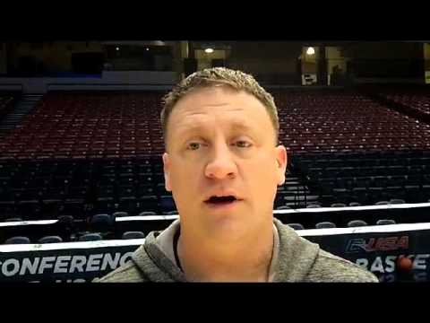 Coach Rhoades talks about Marcus Evans earning Conference USA Freshman of the Year