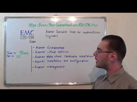 E20-594 – Avamar Exam Specialist Implementation Test Engineers Questions