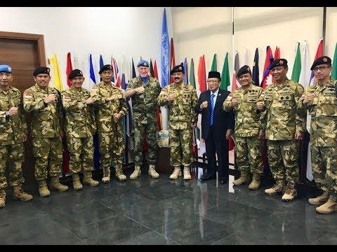 KUNJUNGAN PANGLIMA TNI KE UNIFIL HEADQUARTER NAQOURA, LEBANON SELATAN