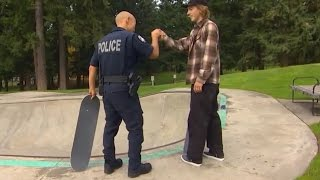 Police Officer Skateboards to Build Trust