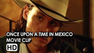 "Johnny Depp in ""Shooting the Cook, Restoring the Balance"" Movie Clip from Once Upon a Time in Mexico"