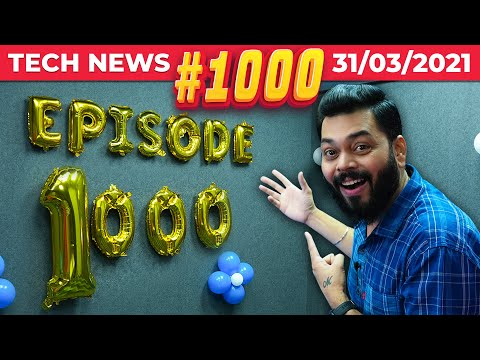 "1000th Tech News, RIP PUBG Lite, realme 8 5G Full Specs, 100"" Meow TV, Mi MIX Fold Launched-#TTN1000"