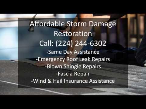 Same day fascia & Roof Leak Repair Round Lake IL (224) 244-6302 Wind & Hail Roof Damage