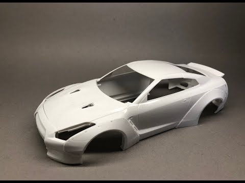 Aoshima: Nissan R35 GT-R LB Works Ver.1 Part 1 How to install the Widebody