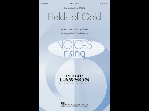Fields of Gold (SAB) - Arranged by Philip Lawson