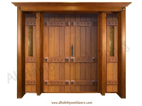 Wooden main doors design for home youtube for Big main door designs