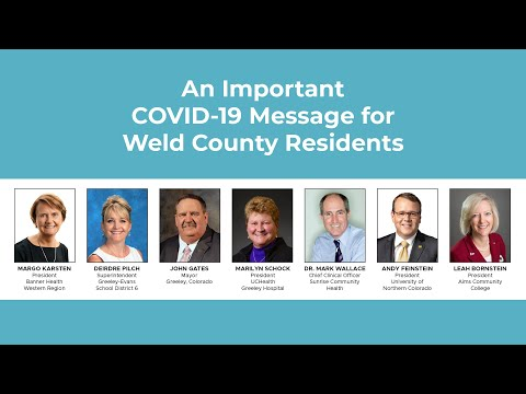 A Public Service Announcement from Greeley-Evans Leaders about COVID-19