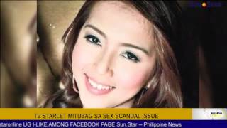 TV Starlet mitubag sa sex scandal issue