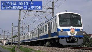 西武多摩川線101系 伊豆箱根鉄道コラボ電車 2017年9月