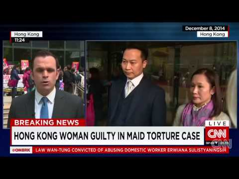 Hong Kong woman found guilty in maid abuse case