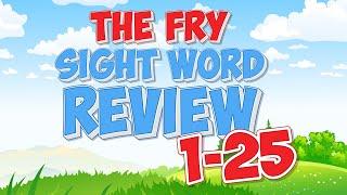 Fry Sight Word Review | 1-25 | Jack Hartmann