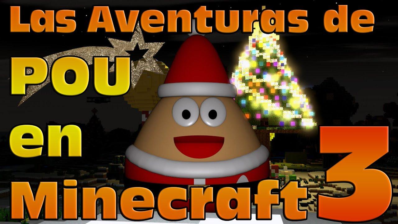 Worksheet. Las aventuras de Pou en Minecraft 3 Feliz Navidad Merry