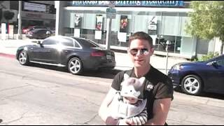 Comedian Mikey Day is spotted walking in West Hollywood with his baby strapped to his