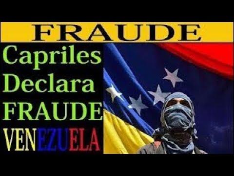 Capriles declara FRAUDE NOTICIAS DE HOY 4 DE AGOSTO 2017 ESCANDALO CARACAS VENEZUELA MADUR