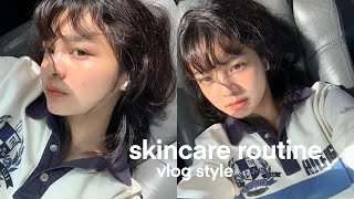 Skincare Routine for Glowy Clear Skin 💦 Morning & Night Korean Skincare Routine for Combo Skin