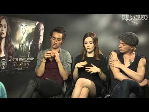 The Mortal Instruments interviews — Robert Sheehan, Lily Collins and Jamie Campbell Bower