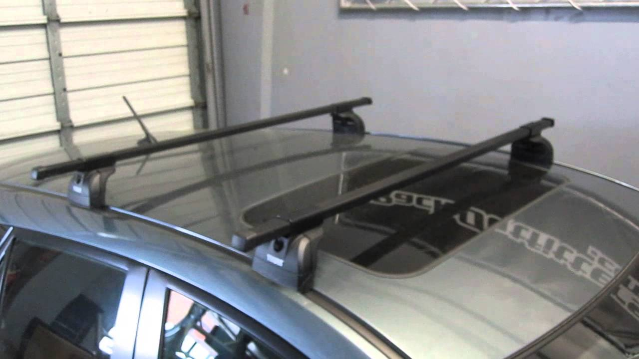 Mazda 3 5 Door Hatchback With Thule 460 Podium Square Bar Roof Rack By Outfitters