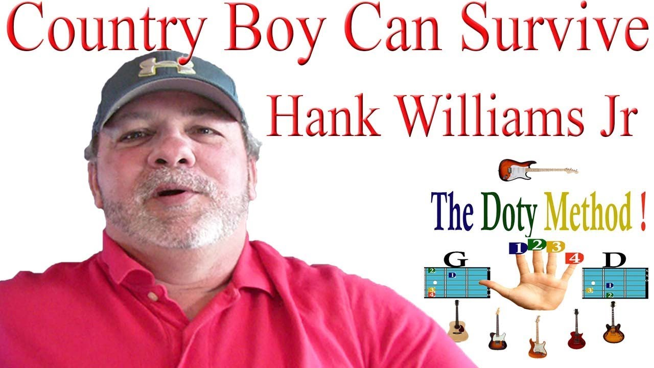 Country Boy Can Survive Hank Williams Jr Guitar Lesson Tutorial
