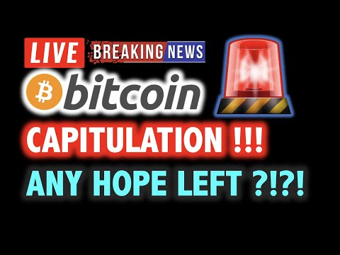 BITCOIN CAPITULATION! Any Hope Left? 🎯LIVE Crypto Crash Analysis TA & BTC Cryptocurrency Dump News