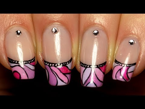 nail art french manucure mosa que color e youtube. Black Bedroom Furniture Sets. Home Design Ideas