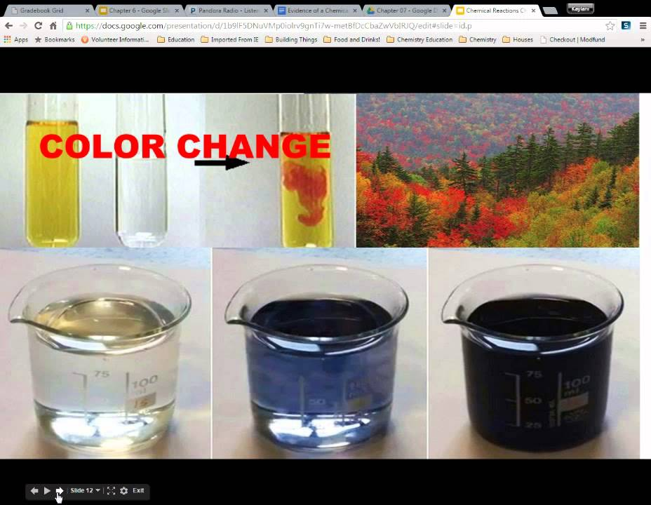what is evidence of a chemical change
