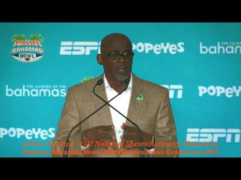 POPEYES BAHAMAS BOWL 2016: Jeffrey Beckles - ESPN EVENTS PRESS CONFERENCE