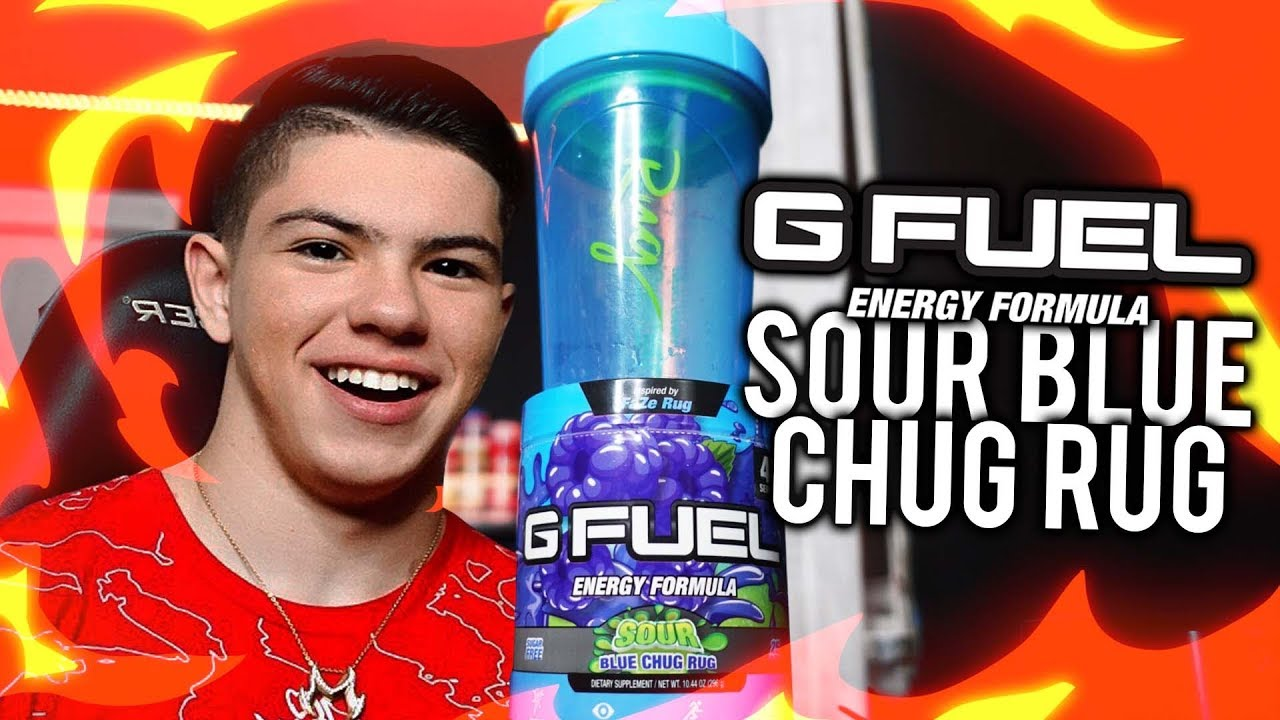 Sour Blue Chug Rug Faze Rug Gfuel Flavor Unboxing Youtube