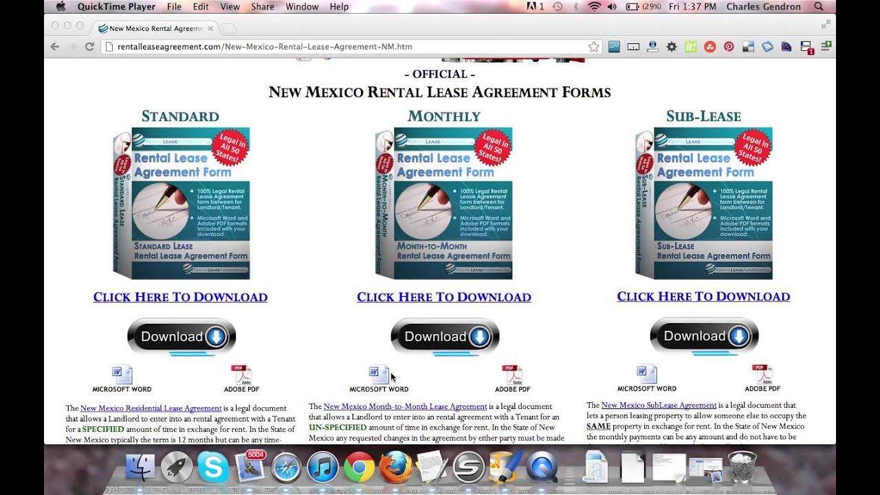 New Mexico Rental Agreement Youtube