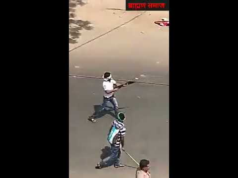 Angry Brahman firing on Bheem sena