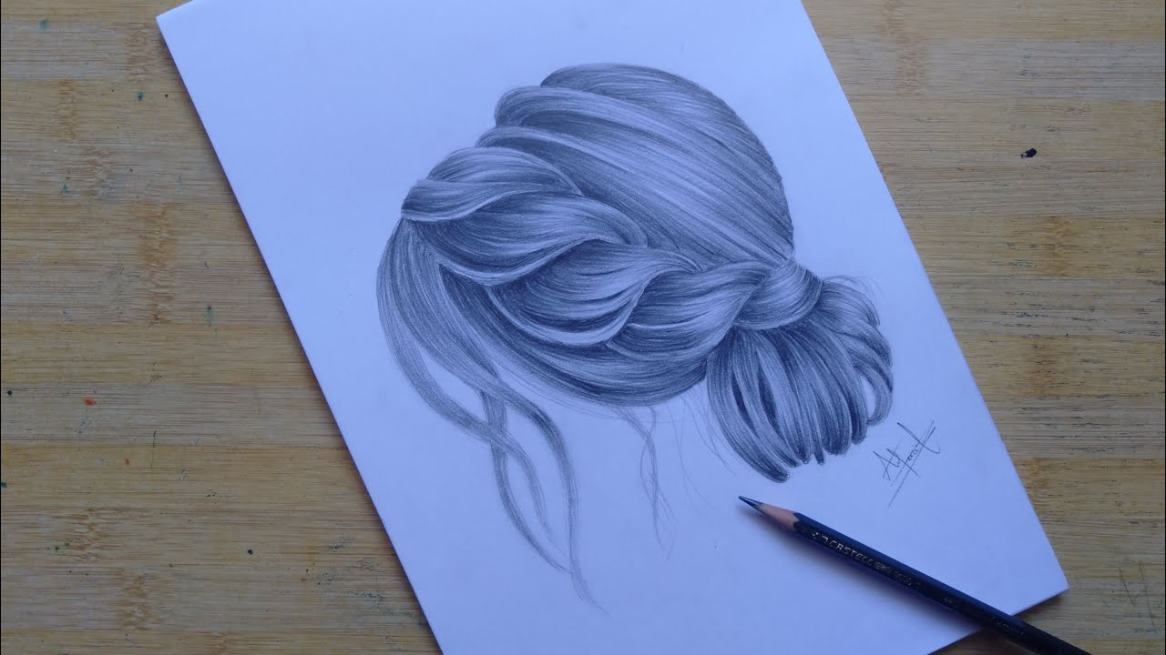 How To Draw Hair // Easy Step By Step - YouTube