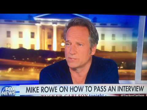 Tucker Carlson Mike Rowe job interview