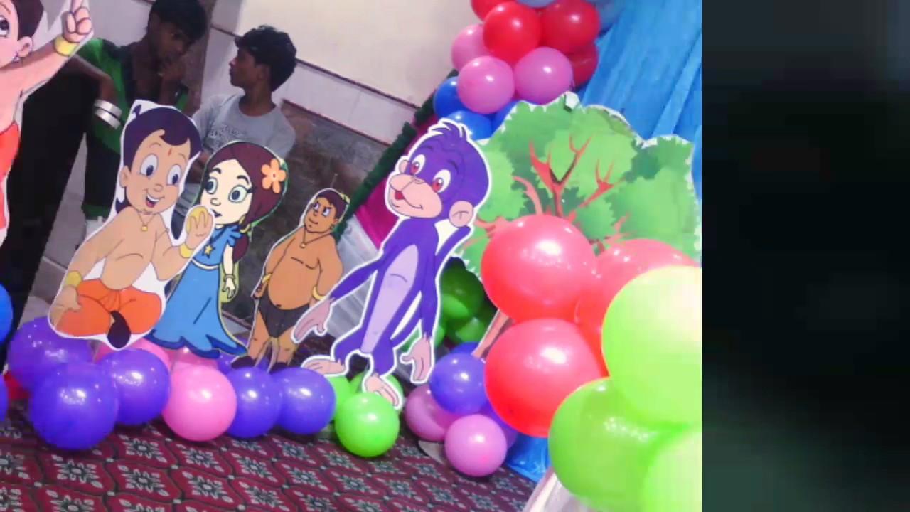 Chota Bheem Themes Party Decoration Youtube